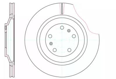 6120610 REMSA Тормозной диск