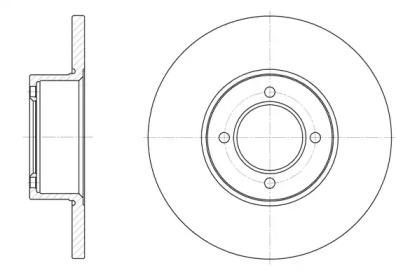 612700 REMSA Тормозной диск