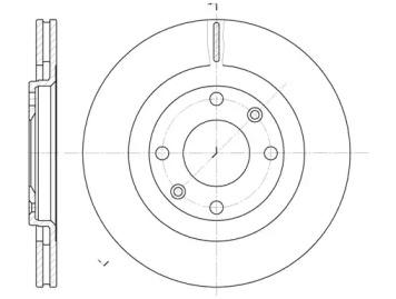 624010 REMSA Тормозной диск