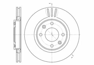 660310 REMSA Тормозной диск