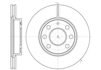 666510 REMSA Тормозной диск