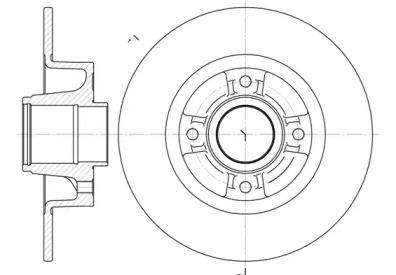 675000 REMSA Тормозной диск