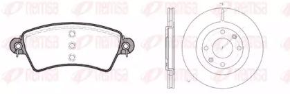 872600 REMSA Комплект тормозов, дисковый тормозной механизм