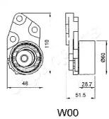 BEW00 JAPANPARTS Устройство для натяжения ремня, ремень ГРМ -1