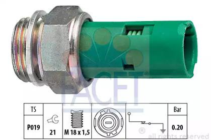 70110 FACET Датчик давления масла