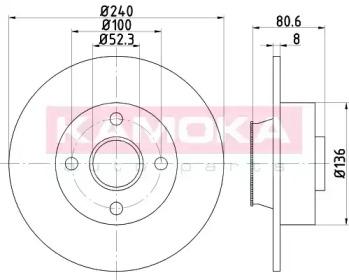 1031135 KAMOKA Тормозной диск
