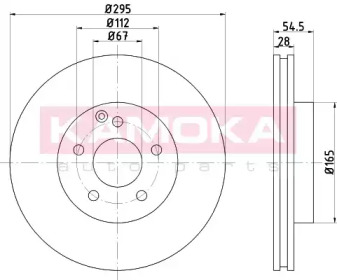 Тормозной диск KAMOKA 103278 для авто MERCEDES-BENZ с доставкой