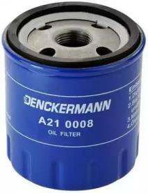 A210008 DENCKERMANN Фільтр масляний Citroen/Fiat/Peugeot/Renault 1.9D/2.0HDI/2.5D/2.0 16V