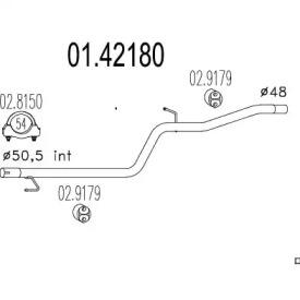 0142180 MTS Труба выхлопного газа