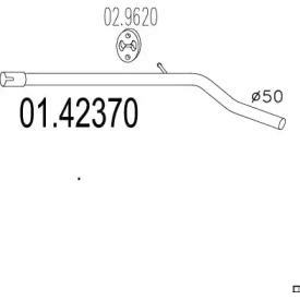 0142370 MTS Труба выхлопного газа