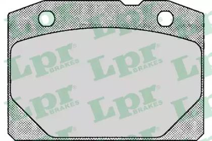 05P127 LPR Комплект тормозных колодок, дисковый тормоз
