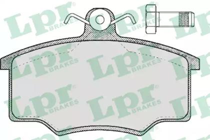 05P188 LPR Комплект тормозных колодок, дисковый тормоз