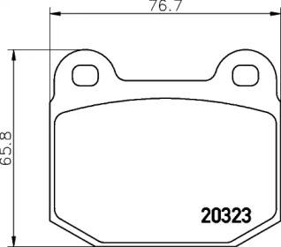 8DB355009061 HELLA Комплект тормозных колодок, дисковый тормоз