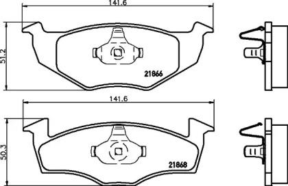 8DB355007911 HELLA Комплект тормозных колодок, дисковый тормоз