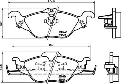 8DB355008571 HELLA Комплект тормозных колодок, дисковый тормоз