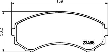 8DB355009461 HELLA Комплект тормозных колодок, дисковый тормоз