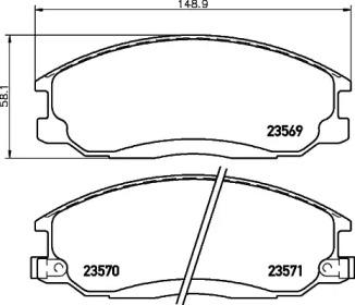 8DB355009991 HELLA Комплект тормозных колодок, дисковый тормоз