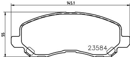 8DB355009671 HELLA Комплект тормозных колодок, дисковый тормоз