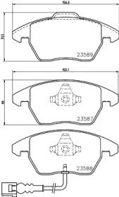 8DB355010581 HELLA Комплект тормозных колодок, дисковый тормоз