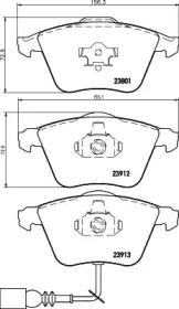 8DB355010351 HELLA Комплект тормозных колодок, дисковый тормоз