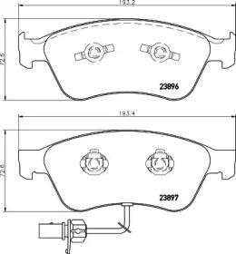 8DB355009211 HELLA Комплект тормозных колодок, дисковый тормоз