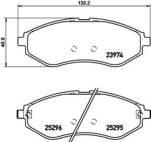 8DB355017351 HELLA Комплект тормозных колодок, дисковый тормоз