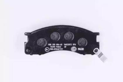 8DB355006451 HELLA Комплект тормозных колодок, дисковый тормоз -2