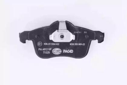 8DB355009221 HELLA Комплект тормозных колодок, дисковый тормоз -2