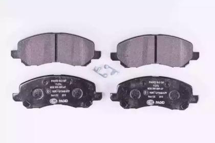 8DB355009671 HELLA Комплект тормозных колодок, дисковый тормоз -1
