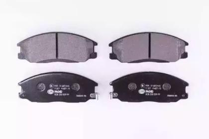 8DB355009991 HELLA Комплект тормозных колодок, дисковый тормоз -1