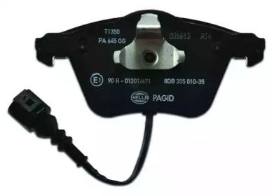 8DB355010351 HELLA Комплект тормозных колодок, дисковый тормоз -2