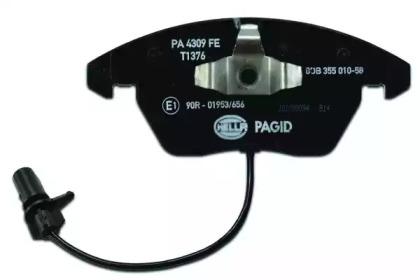 8DB355010581 HELLA Комплект тормозных колодок, дисковый тормоз -2
