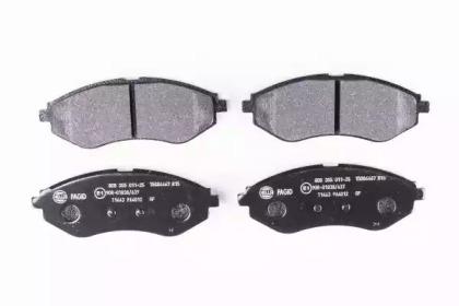 8DB355011251 HELLA Комплект тормозных колодок, дисковый тормоз -1