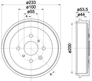 8DT355300581 HELLA Тормозной барабан