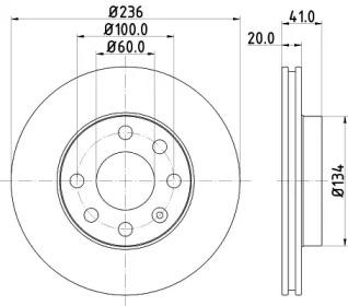 8DD355100821 HELLA Тормозной диск