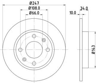 8DD355100841 HELLA Тормозной диск
