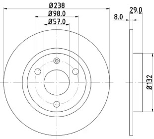8DD355101451 HELLA Тормозной диск