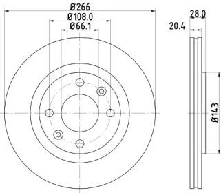 8DD355102051 HELLA Тормозной диск