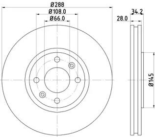 8DD355107841 HELLA Тормозной диск