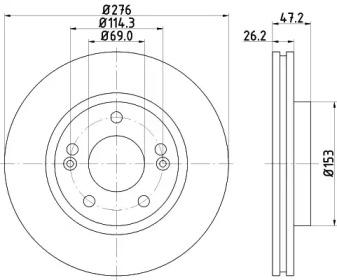 8DD355110951 HELLA Тормозной диск