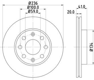 8DD355111341 HELLA Тормозной диск