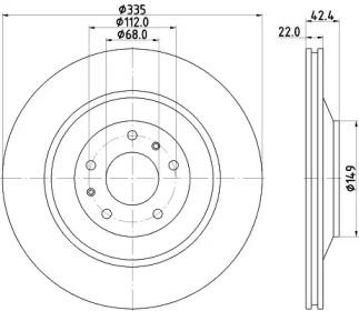 8DD355115461 HELLA Тормозной диск
