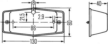 2PF001321011 HELLA Стояночный огонь -1