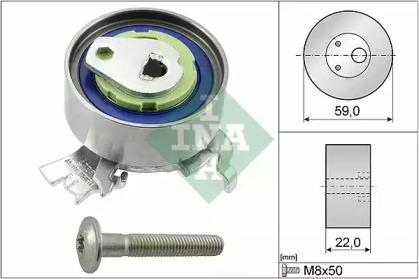 Ролик ГРМ натяжной основной Lacetti 1.8 E3 LDA INA 531051830 для авто CHEVROLET, OPEL, SAAB с доставкой-1