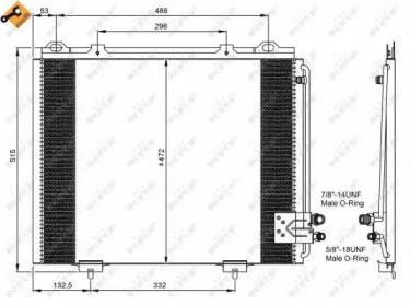 Радиатор кондиционера NRF 35228 для авто MERCEDES-BENZ с доставкой-1