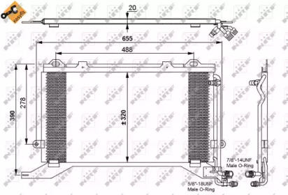 Радиатор кондиционера NRF 35240 для авто MERCEDES-BENZ с доставкой-1