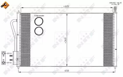 Радиатор Кондиционера NRF 35345 для авто FORD с доставкой-3