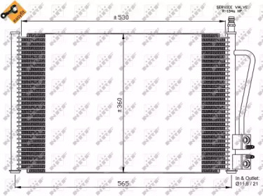 Радиатор Кондиционера NRF 35524 для авто FORD, MAZDA с доставкой-3