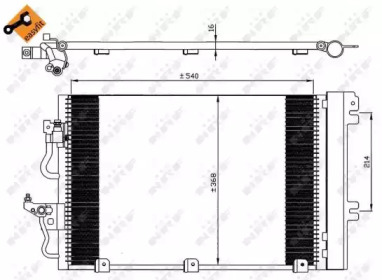 Радиатор кондиционера EASY FIT NRF 35555 для авто OPEL с доставкой-4