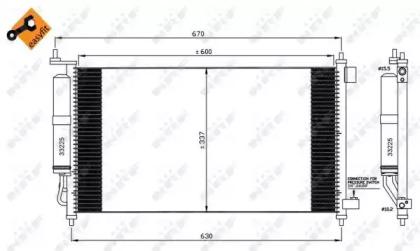 Радиатор кондиционера EASY FIT NRF 35583 для авто NISSAN с доставкой-4